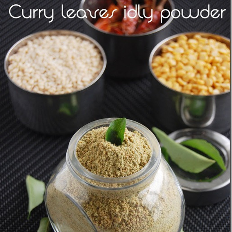 Curry leaves idly powder