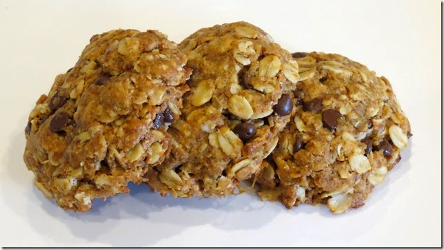 Peanut Butter Oat Chocolate Chip Cookies (Gluten Free)