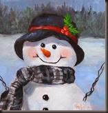 Snowman IV 6x6 Print