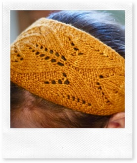 gold leaf headband - top