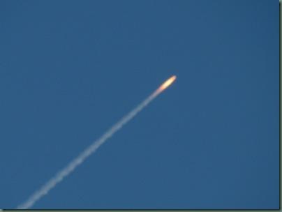 rocket launch off of Wabasso Causeway