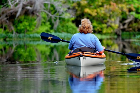 paddling into Snake Creek