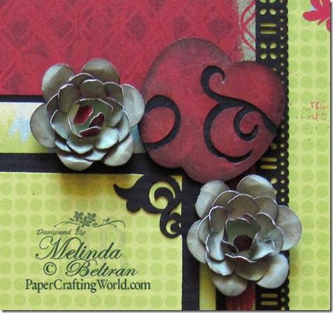 cricut flowers and apple layout close up 500