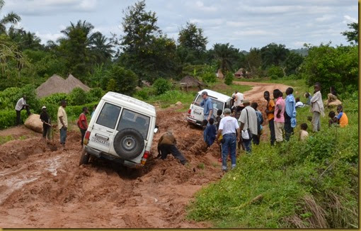 vehicle stuck in the mud