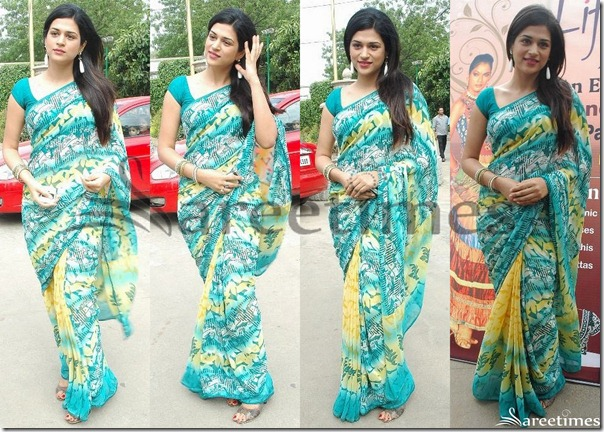 Shraddha_Das_Printed_Saree