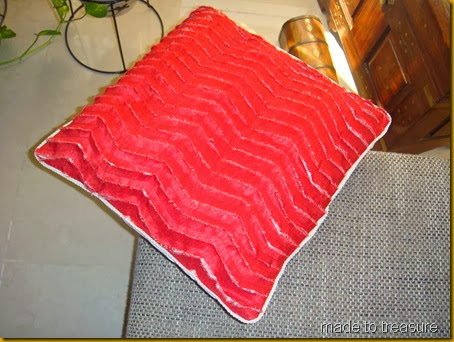 faux chenille pillow