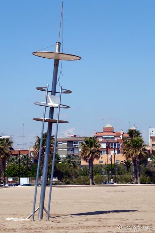 torre de vigilancia inclinada - malvarrosa - valencia