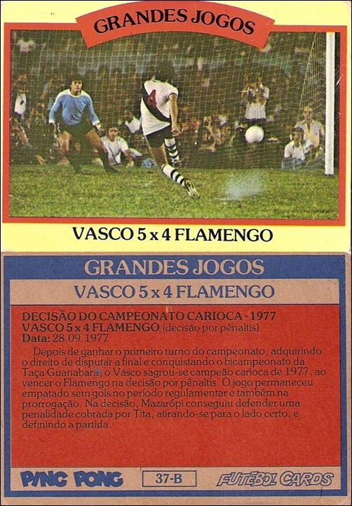 37-B - Vasco 5x4 Flamengo