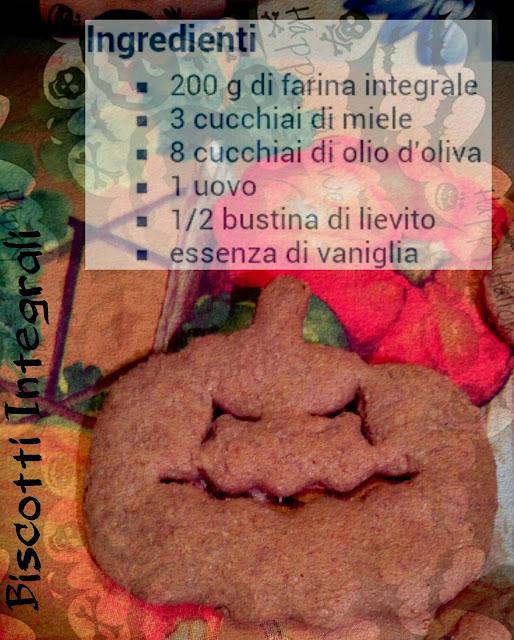 biscotti integrali di halloween