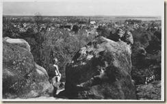 Nemours vue panoramique des rochers Gréau