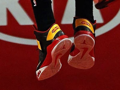 nike zoom soldier 6 pe tristan thompson cavs 1 04 Wearing Brons: Tristan Thompsons ZS6 Cleveland Cavaliers PEs
