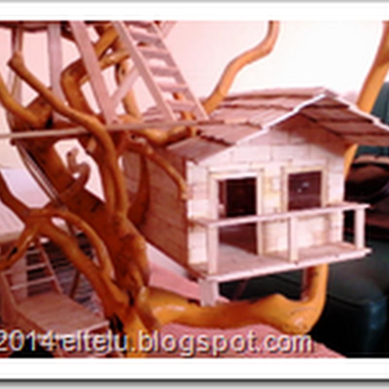 Contoh Hiasan Interior Rumah Berupa Kerajinan Dari Bahan Stick Es Krim Bekas