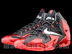 nike lebron 11 gr black red 4 02 New Photos // Nike LeBron XI Miami Heat (616175 001)