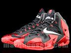 nike lebron 11 gr black red 4 02 New Photos // Nike LeBron XI Miami Heat (616175 001)