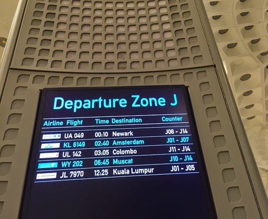 Counter Details in Departure Zone