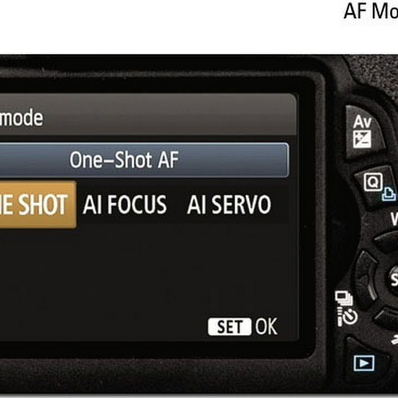 How To Change The AutoFocus Settings In Canon Rebel T3 - 1100D