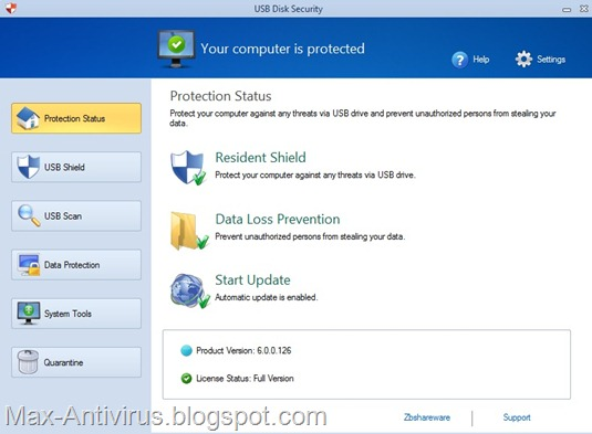 Free Download USB Disk Security 6.0.0.126 (Full) for Windows XP, Vista and Windows 7