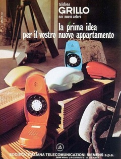 Grillo telephone by Marco Zanuso advertisement