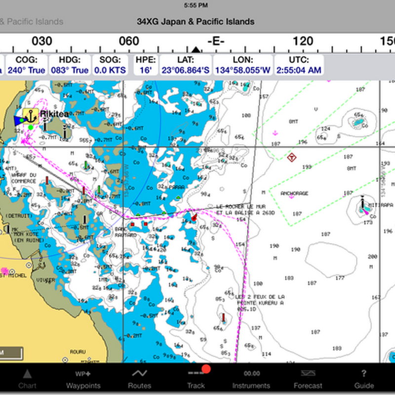 Electronic charting on Estrellita: iPad, iNavX and Navionics