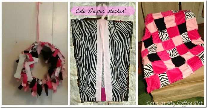 baby shower PINK and Black