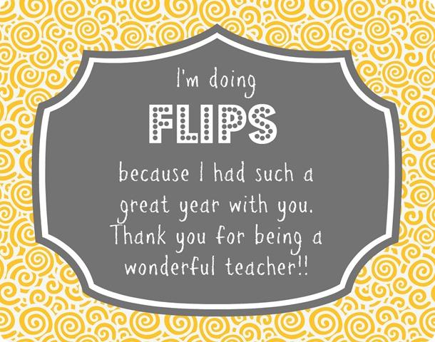 FLIPS teacher gift