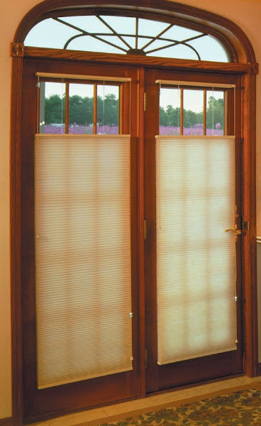 French Doors Cellular Shades French Door Window Treatments