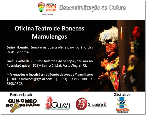 Web Flyer . Oficina Teatro de Bonecos . Descentralização Cultura 2014