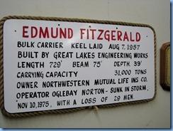 5158 Michigan - Sault Sainte Marie, MI - Museum Ship Valley Camp - Edmund Fitzgerald exhibit