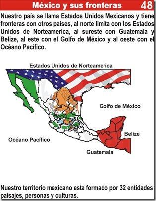 Tarea de México y sus fronteras para niños de primaria