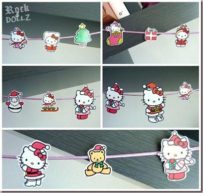 Guirnalda Hello Kitty Navidad