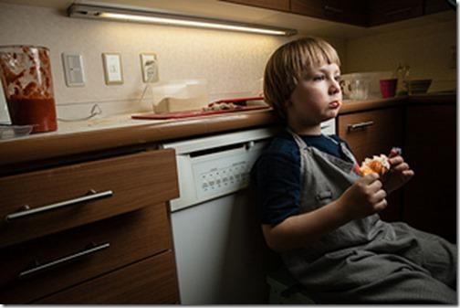Birk i egne tanker i en pause i madlavningen320