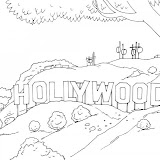HOLLYWOOD COLORING PAGE UNIVERSAL STUDIOS