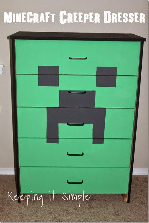 Minecraft Creeper Dresser with DecoArt Chalk Paint
