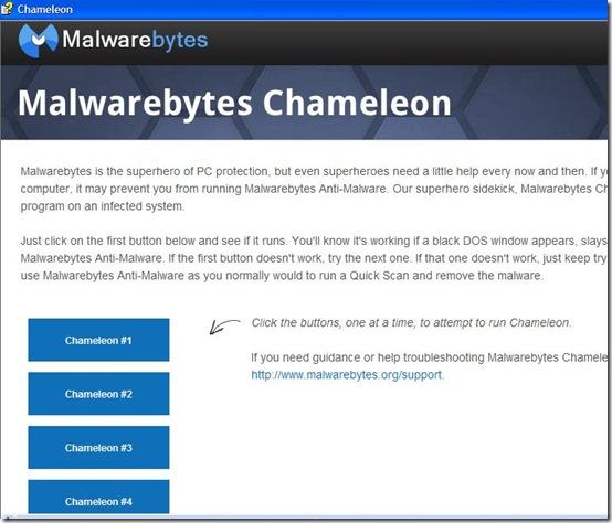 Malwarebytes Chameleon guida