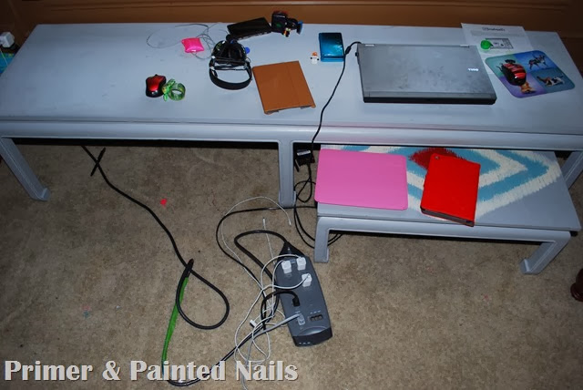 Cords and Mess - Primer & Painted Nails