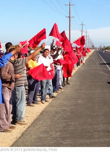 'UFW at gerawan farming picketing against union labor.' photo (c) 2013, goldstardeputy - license: https://creativecommons.org/licenses/by/2.0/
