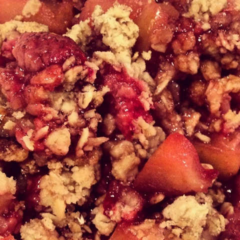 #274 - raspberry and apple crumble