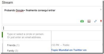comentario google+