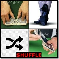 SHUFFLE- 4 Pics 1 Word Answers 3 Letters