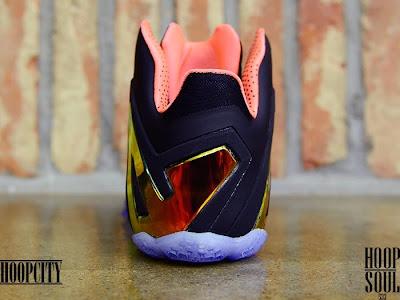 nike lebron 11 ps elite black mango 2 03 Release Reminder: Nike LeBron 11 Elite Gold Collection