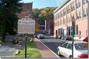 Dr. William Fleming, marker A-64 along S. New Street looking south in Staunton, VA.