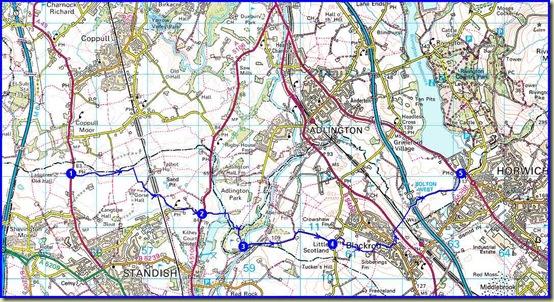 Our 'Part 3@ route - 10km, 150m ascent, 3 hours