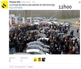 catastròfa aeriana de Germanwings minuta de silenci