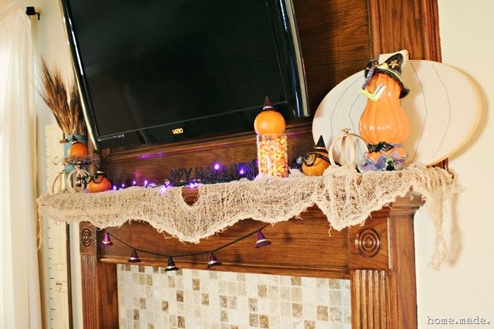Whimsical Halloween Mantle