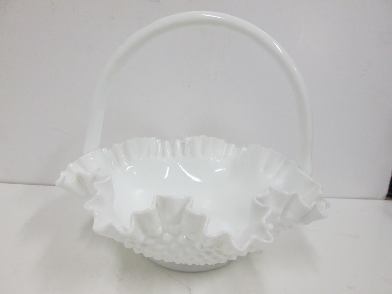 Milk Glass Basket