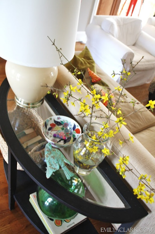 decorating with Spring branches