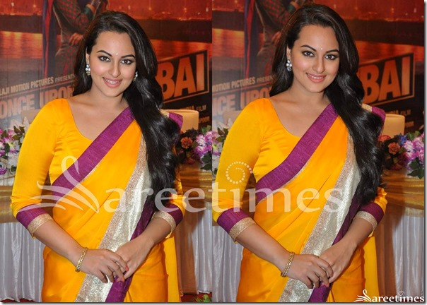 Sonakshi_Sinha_Orange_Saree_Blouse