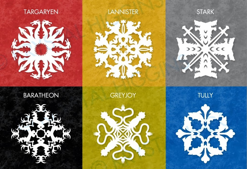 Game of Thrones Snowflake Template by Krystal Higgins