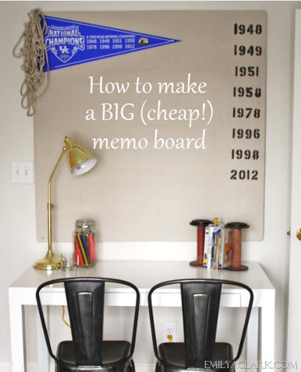 diy big memo board