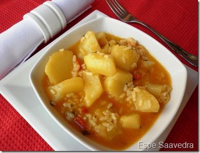 patatas arroz